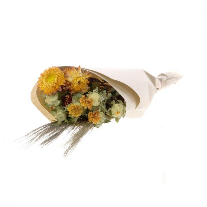 Bouquet mélangé de fleurs séchées Orange