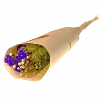 Bouquet de fleurs séchées violettes