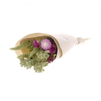 Bouquet de fleurs séchées roses